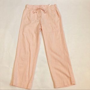 NWT Talbots Washed Linen Pull on Crops
